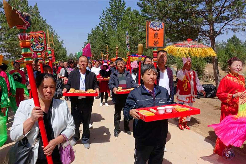 榆林市榆阳区卧云山道观举行传统文化庙会和...