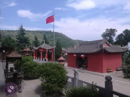 宝鸡长寿山道观举行升国旗仪式