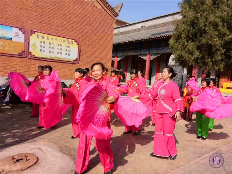 咸阳五陵洞道观举行传统庙会