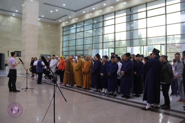"""汉中市宗教界隆重庆祝建国70年 暨""""助力新..."""