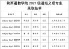 陕西道教学院2021级道经义理专业录取名单